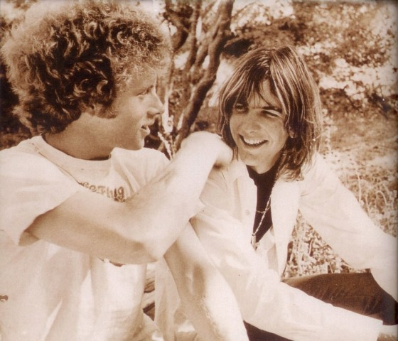 Chris Hillman (L) and Gram Parsons of the Flying Burrito Brothers