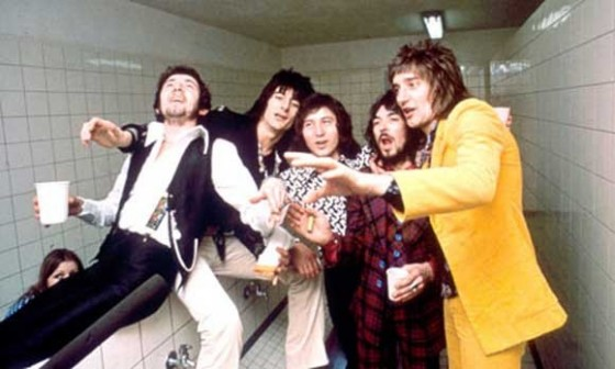 Faces L-R: Ian McLagan, Ronnie Wood, Kenney Jones, Ronnie Lane & Rod Stewart