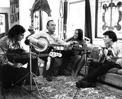 Scruggs boys with Joan Baez