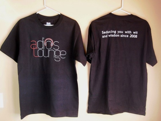 Adios Lounge T-Shirts Now Available!