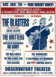 Phil Alvin Benefit Poster