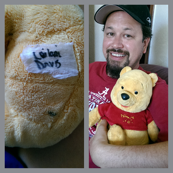 LD and Pooh Bear (purchased for Leilani by Papa Jack Davis)