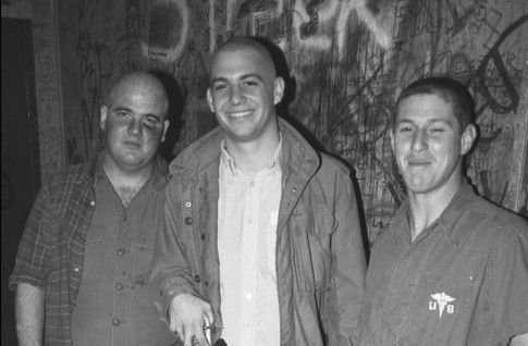L-R: D Boon, Mike Watt, George Hurley