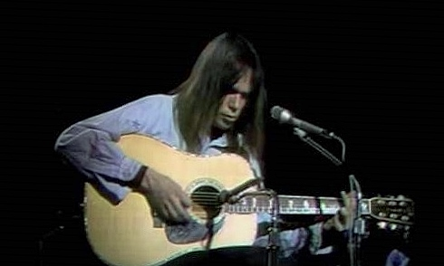 Neil on the Johnny Cash Show, February 1971