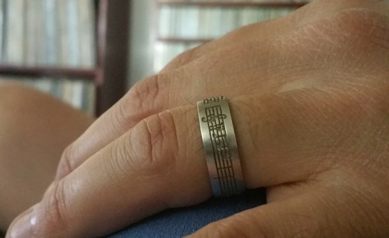 "See those musical notes on my wedding ring? Those are the opening piano chords to ""Bring It On Home To Me,"" my favorite song ever."