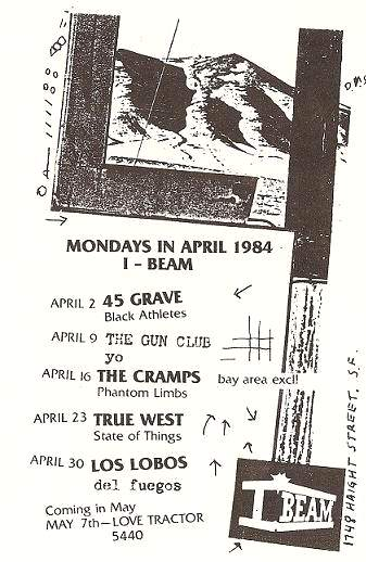 i beam, sf, april 1984