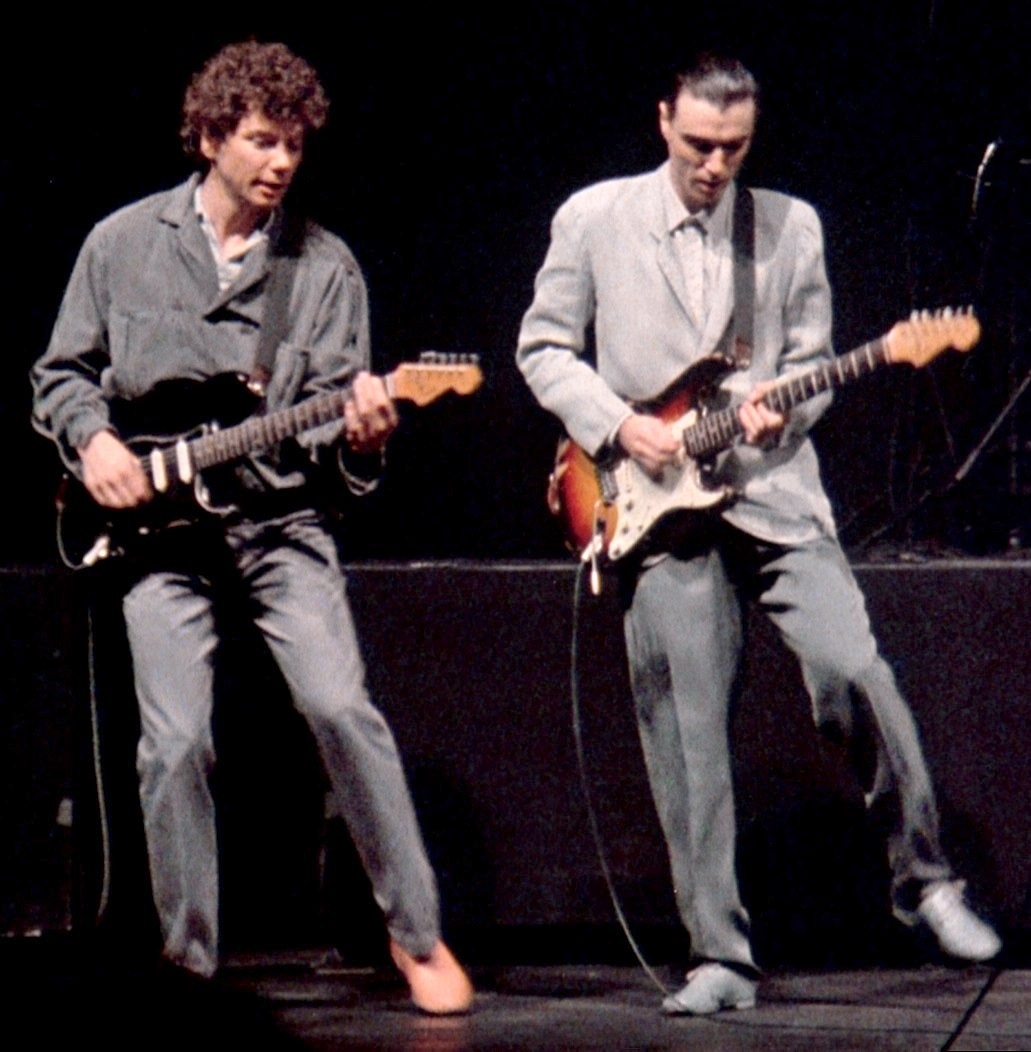 Jerry Harrison (L) & David Byrne of Talking Heads