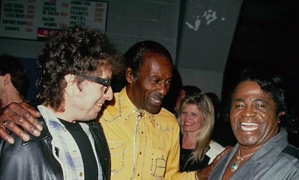 L-R: Bob Dylan, Chuck Berry & James Brown. Eh, I guess these guys had a decent impact on American music.