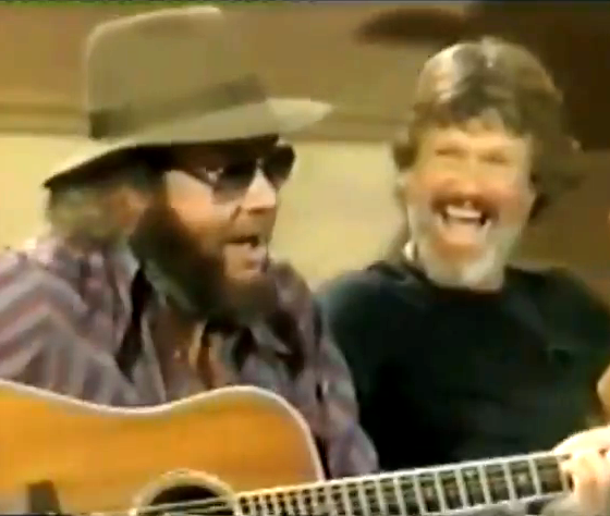 Hank Williams, Jr. (L) and Kris Kristofferson
