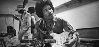 Jimi Hendrix backstage